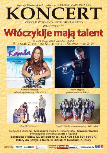 """Koncert """"Włóczykije mają talent"""""""